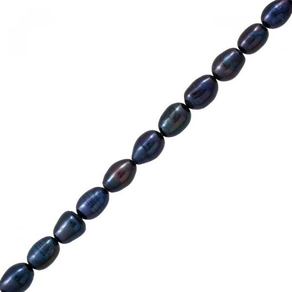 Freshwater Pearls Genuine Peacock Rice Beads 7-8mm 15.5