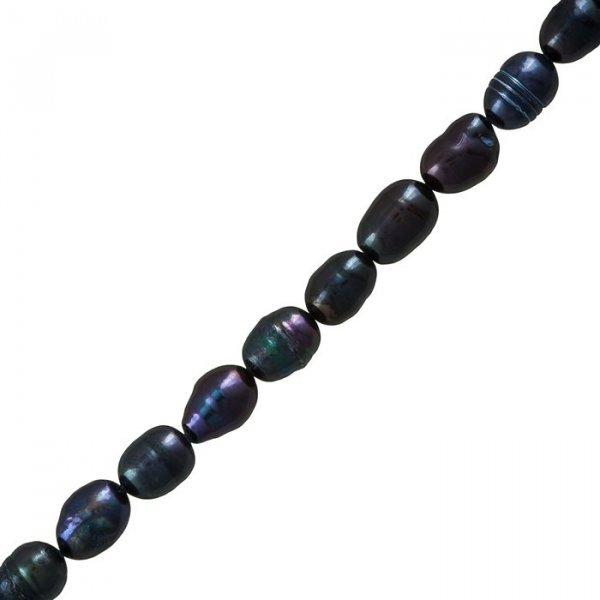 Freshwater Pearls Genuine Peacock Potato Beads 9-11mm