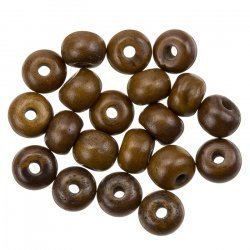10mm Natural Brown Round Bone Beads - Sold as Pack of 20