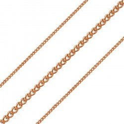 Fine 0.5mm Curb Chain 2.2mm Rose Gold Plated on Steel 1m