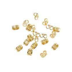 Earring Scroll Back Gold Plated Butterfly Stoppers 4mm