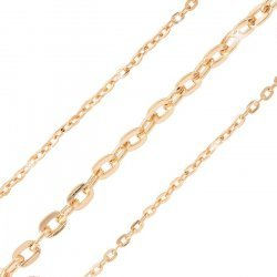 Flat Oval Link Chain Rose Gold Plated 5x3mm  - 1 metre