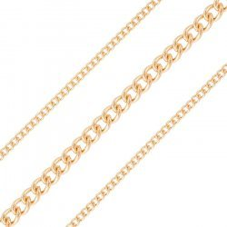 4x3mm Classic Fine Curb Chain Rose Gold Plated 1 Metre