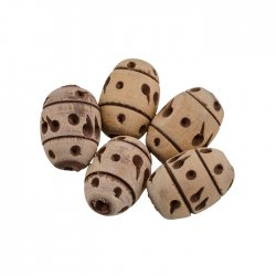 Wooden Cork Spacer Beads Barrel Spot/Stripe 12x23mm PK4