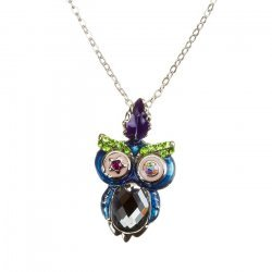 Cute Crystal Owl Pendant Necklace - Cubic Zirconia