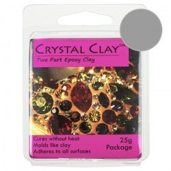 Silver Jewellery Clay Two Part Epoxy Crystal Clay 25g