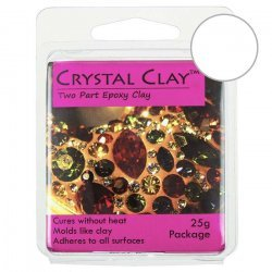 Crystal Clay Two Part Epoxy White Jewellery Making 25g