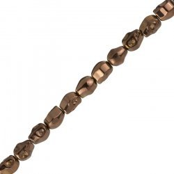 Hematite Skull Beads 10x8mm Metallic Copper 8