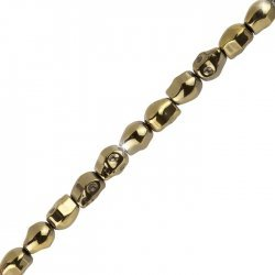 Hematite Skull Beads | 10x8mm Metallic Gold 8