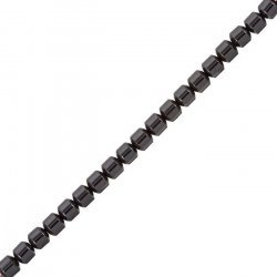 "5mm Hematite Beads Barrel Shape Semi-Precious 16"" Strand"