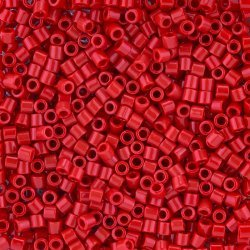 Miyuki Delica Seed Beads Size 8/0 Opaque Red 6.8g Tube