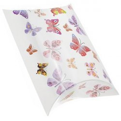 Butterfly Print Large Pillow Gift Box 14x13x5cm PK1