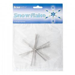 "Beadsmith 3.75"" Wire Snowflake Forms (0.8mm) 8 Frames"