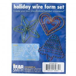 Wire Form Set Christmas Bead Decorations Plus 6m Wire