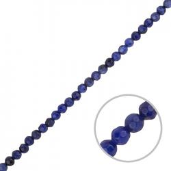 """Faceted Sodalite Beads Round Blue Stones 4mm 15"""" Strand"""