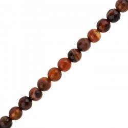 """Miracle Agate Bead Faceted 8mm Semi Precious 15"""" Strand"""