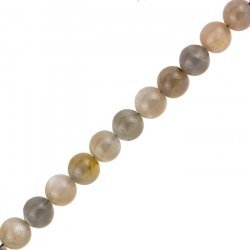 "10mm Mixed Moonstone Beads Semi Precious 15.5"" Strand"