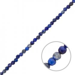 "Natural Lapis Lazuli Beads Faceted 4mm Blue 15"" Strand"