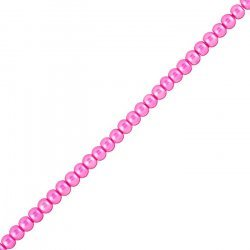 """Cerise Pink Glass Pearl Beads Round 4mm (16.5"""" Strand)"""
