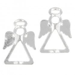 Tibetan Silver Angel & Fairy Bead Frames - 26mm (PK2)
