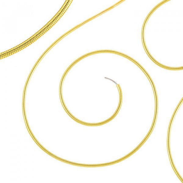 """Beadsmith 0.7mm French Wire/Gimp Fine Gold Colour 14"""""""