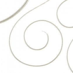 Beadsmith French Wire/Gimp 0.7mm Fine Silver Colour 14