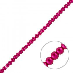 """4mm Glass Pearl Beads Round - Deep Pink (On 15"""" Strand)"""