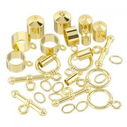 Barrel Findings For Kumihimo Gold Plated Assorted Pack