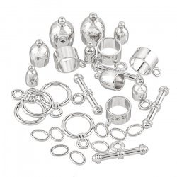 Kumihimo Bullet Findings Set Silver Plated Assorted Pack