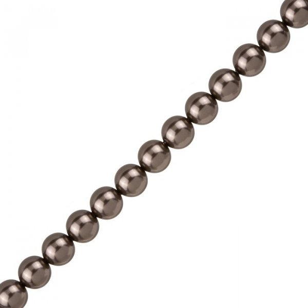 8mm Swarovski Round Crystal Pearl Beads 5810 Brown PK25