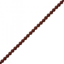 4mm Swarovski Crystal Pearl Beads (5810) Bordeaux PK50
