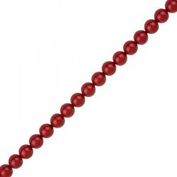 6mm Swarovski Crystal Glass Pearls 5810 Red Coral PK50