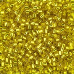 Miyuki Delica Beads Size 8/0 Silver Lined Yellow 6.8g