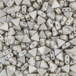 Kheops® Par Puca® 6mm Triangle Czech Bead Grey Pearl 9g