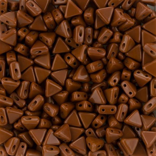 Kheops® Par Puca® 2 Hole Beads Opaque Chocolate 6mm 9g