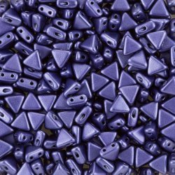 Kheops® Par Puca® 6mm Metallic Matte Dark Purple Beads