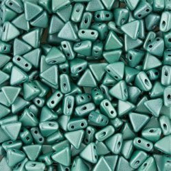 Kheops® Par Puca® Czech Bead 6mm Metallic Matt Green 9g