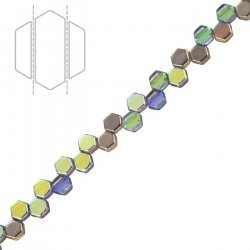 Honeycomb Czech Beads Crystal Graphite Rainbow 6mm PK30