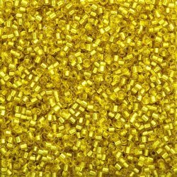 Miyuki Delica Size 10/0 Beads Silver Lined Yellow 7.2g