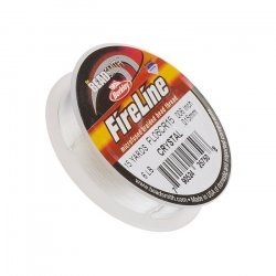 Fireline Braided Bead Thread Crystal 6LB 15yrds 0.006""