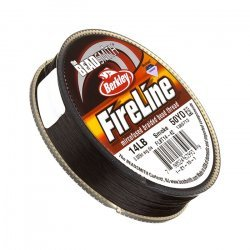 Fireline Braided Bead Thread Smoke Grey 14LB 50yd .009""
