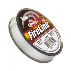 Fireline Braided Beading Thread Crystal 14LB 50yd .009""