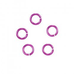 Aluminium 5mm Jump Rings 1.2mm Thick Royal Blue Pack of 100 P55//11