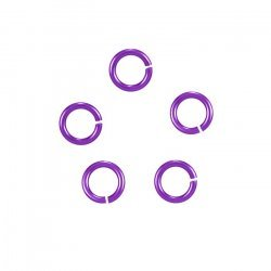 6mm Hypoallergenic Jump Rings Niobium (20 Gauge) Purple