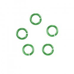 6mm Niobium Jump Rings Hypoallergenic (20 Gauge) Green