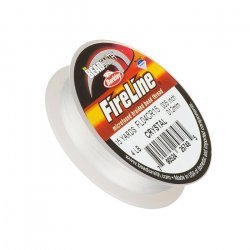 Fireline Braided Bead Thread Crystal 4LB 15yrds 0.005""