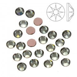 Swarovski Hotfix 2078 Crystals Black Diamond SS20 PK24