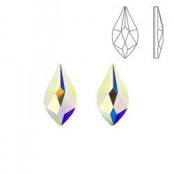 Swarovski Hotfix 2205 Flame Flat Backs Crystal AB 10mm