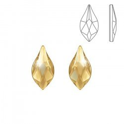 Swarovski Hotfix 2205 Flatback Flame Golden Shadow 10mm