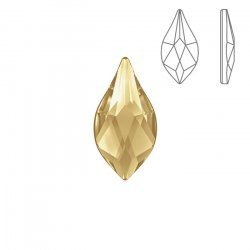 Swarovski 2205 Hotfix Flatback Flame Golden Shadow 14mm